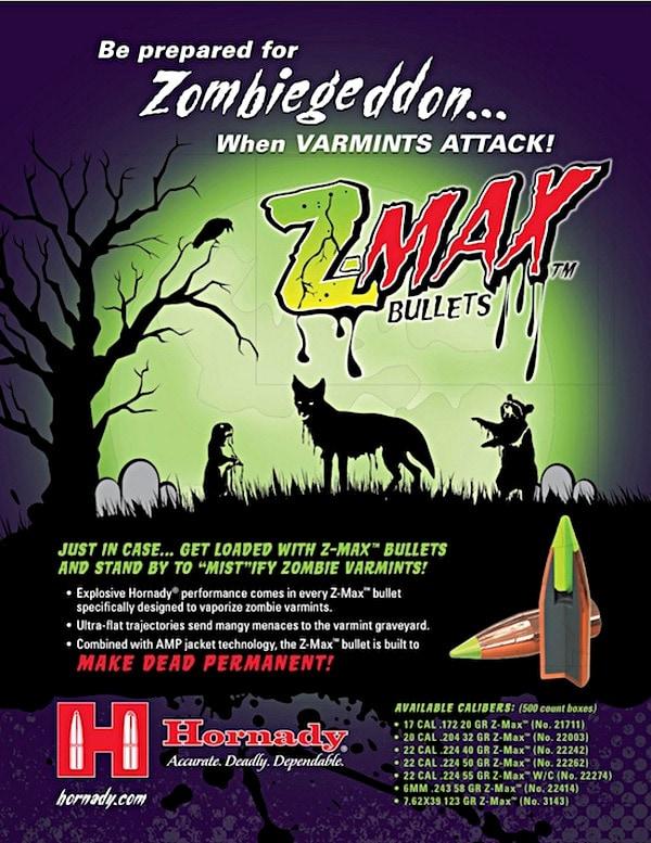 hornady z-max bullets advertisement