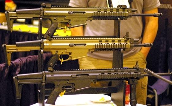 Robinson Armament's XCR rifles displayed
