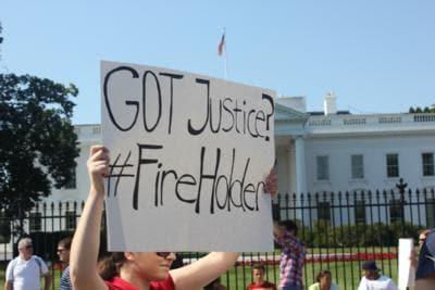 Eric Holder Protest