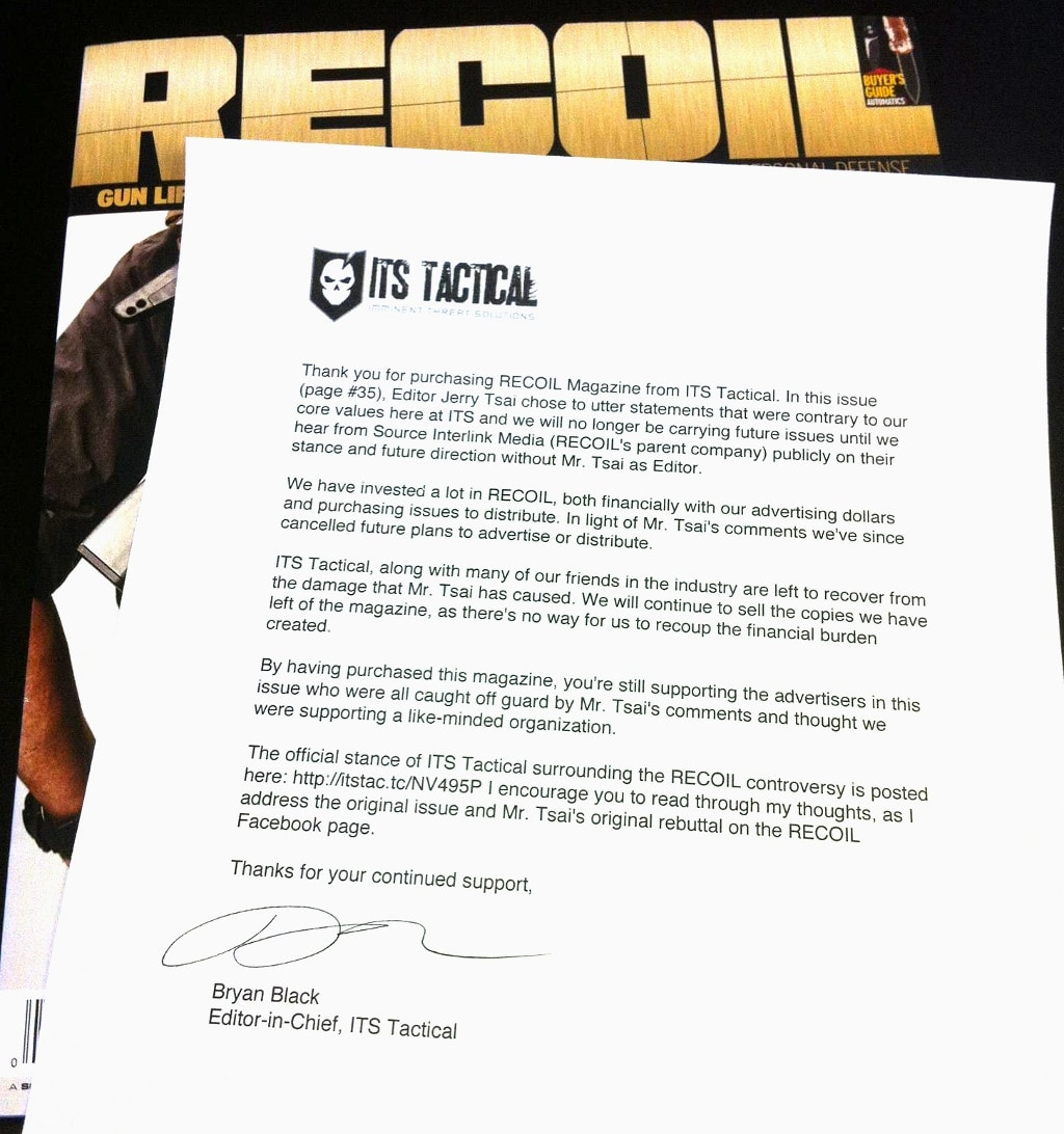 ITS Tactical Apology Note
