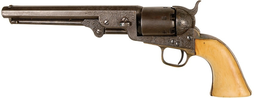 Texas Ranger John Coffee Hays' .36 Colt Fourth Model 1851 Navy revolver given to him by Samuel Colt.