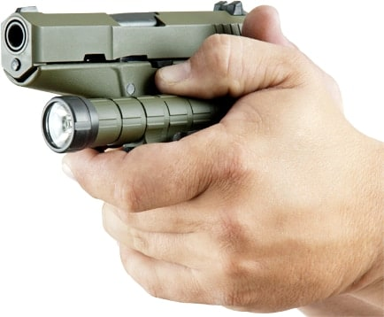 Kel-Tec pistol and matching flashlight
