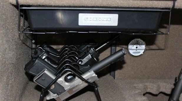 Lockdown rack, drawer, and hygromter