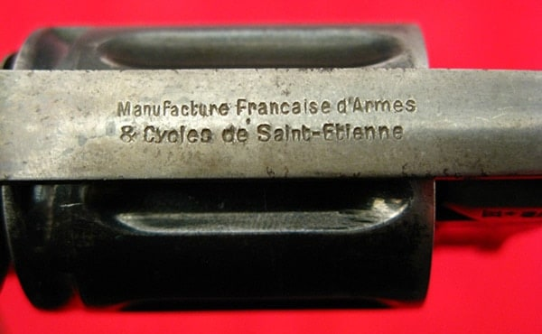 Manufacturers markings on Velo Revolver
