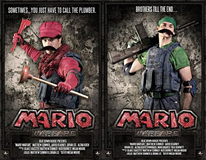 Mario Warfare movie posters