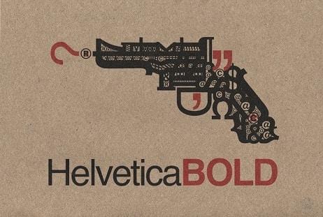 """""""Helvetica BOLD"""" gun art"""