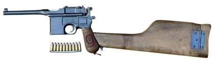 C96 Mauser Handgun Pistol with Stock