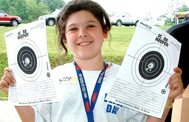 kid at NRA shooting event