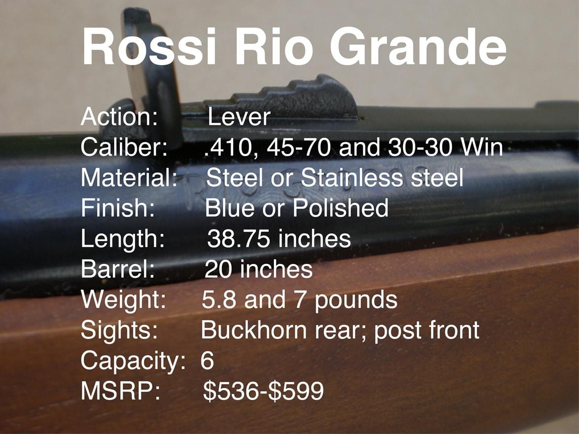 Rossi Rio Grande specs.
