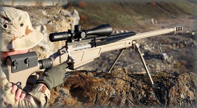 marine shooting a sig rifle