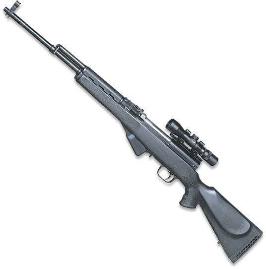 sks with scope on white background