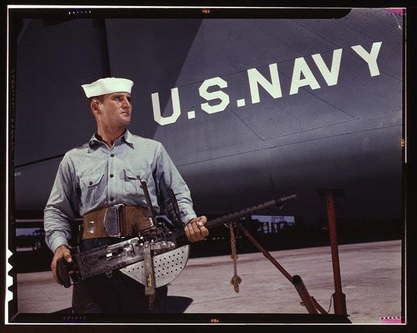 US Navy with Stinger Machine gun.