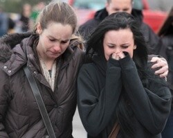 students crying after school shooting