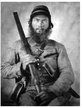 civil war shotgun soldier