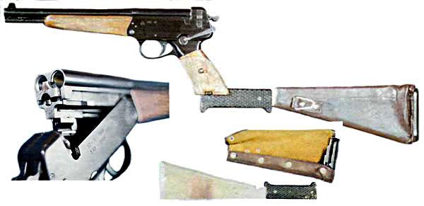 A soviet three-barreled combination gun used by cosmonauts