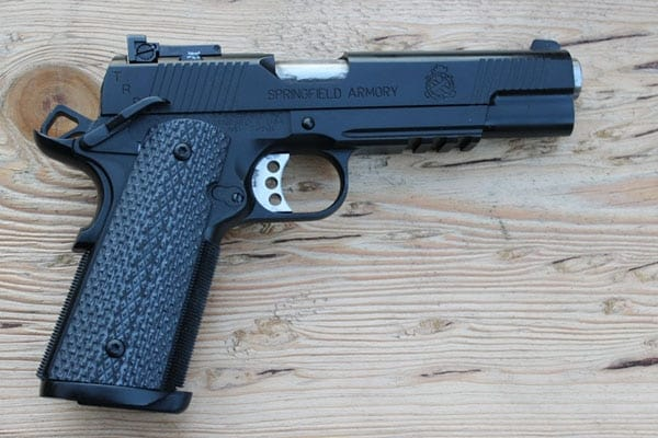 Springfield Armory TRP 1911 on wood