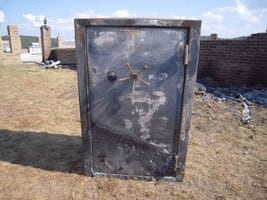 A Browning ProSteel Safe after a house fire