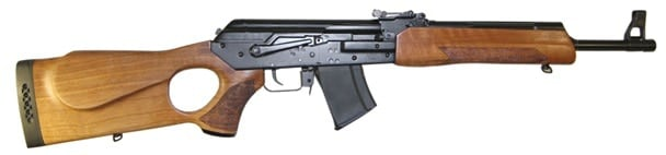 ak rifle on white background