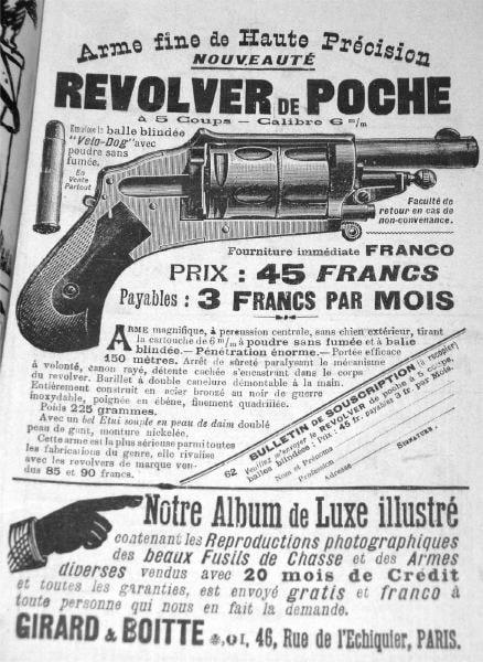 Velo dog revolver revolver de poche
