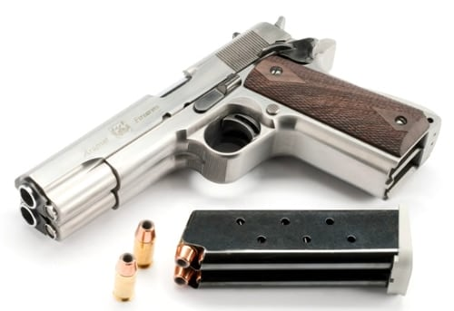 A stainless AF2011-A1 with double magazine