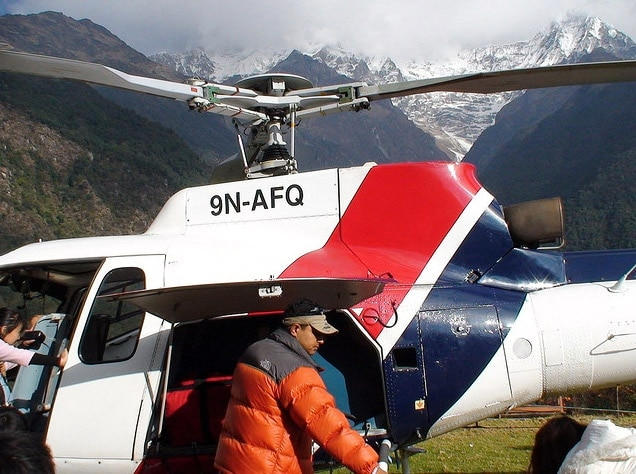 first aid helicopter