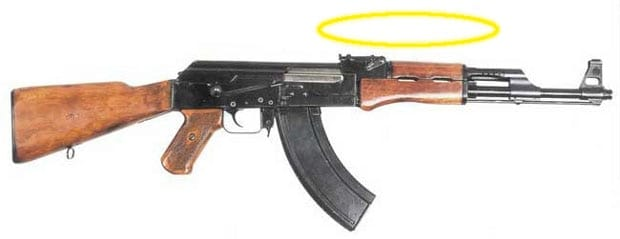 An AK-47 with a halo