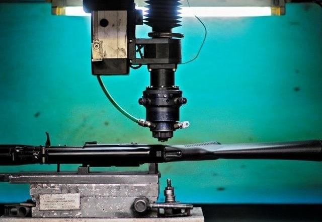 A riveting machine.