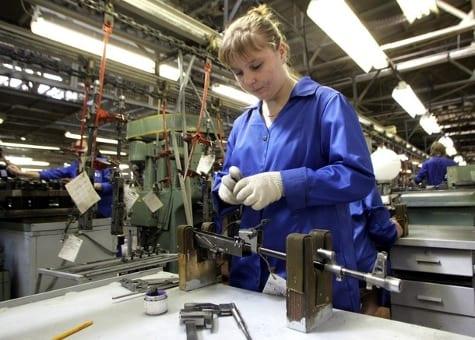 iraq factory working assembling ak rifles