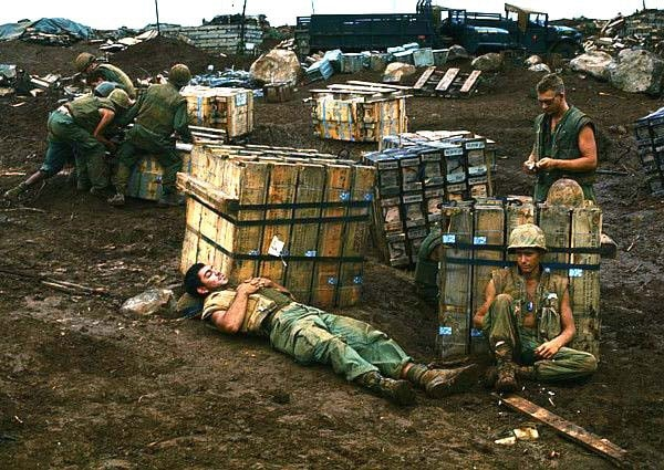 ammo supply for us soldiers in vietnam