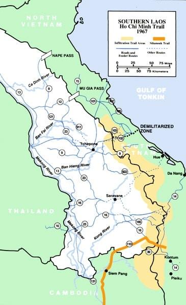 southern laos map