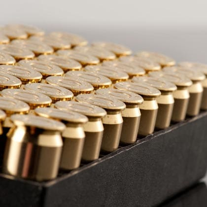 gold ammo sitting in case