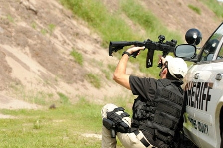 sheriff using anglesight optic