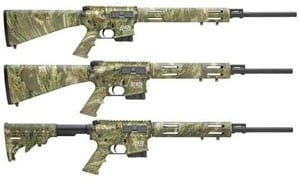 3 cammo hunting rifles