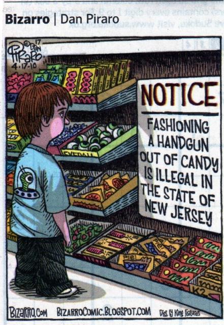 New Jersey Gun Control funny page bizzaro comic