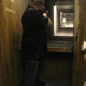 Range shooters at Badger Outdoors.
