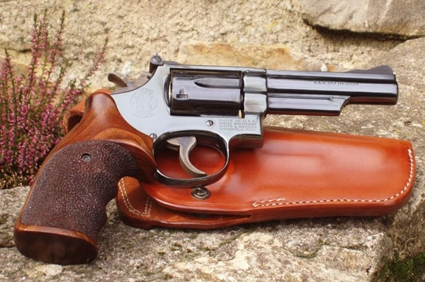 Blued Smith & Wesson Revolver.