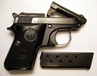 Beretta 950 Jetfire with the barrel tipped up