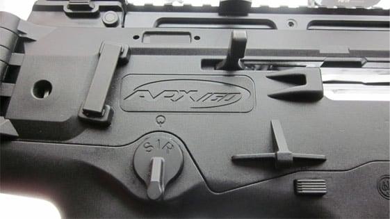 Close up of the Beretta ARX-160 controls.