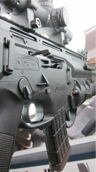 Side shot of the Beretta ARX-160.