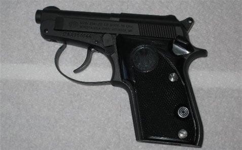Beretta 21a Bobcat black handgun