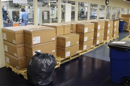 Boxes of M9s ready to be shipped to Afghanistan