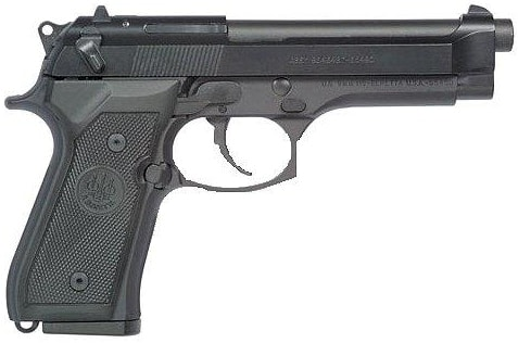 Beretta M9 on white background