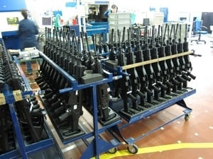 rifles being manufactured in factory