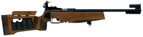 dark wood biathlon rifle