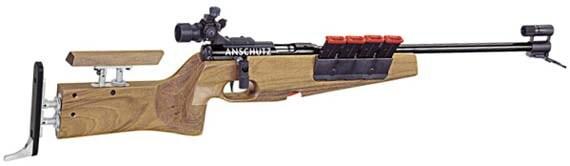 wooden biathlon rifle