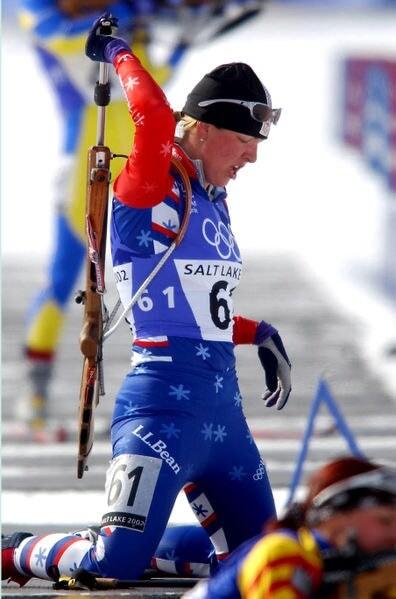 female biathlon shooter