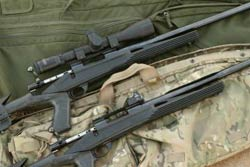 Black rifle are often thought to be 'scarier looking' than guns featuring wood.