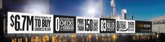 gun statistics billboard mock up