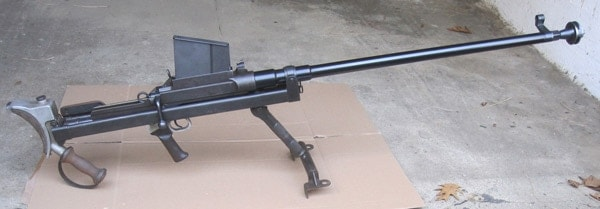 Boys anti-tank gun in garage.