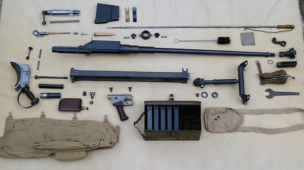 Boys anti-tank gun disassembled.